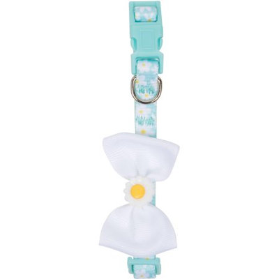 SimplyDog Blue Daisy Bow Collar