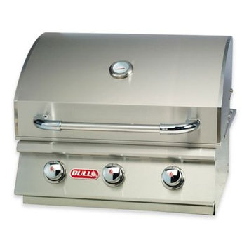 BULL® Steer 3-Burner Natural Gas Drop-In Grill Head in Stainless Steel