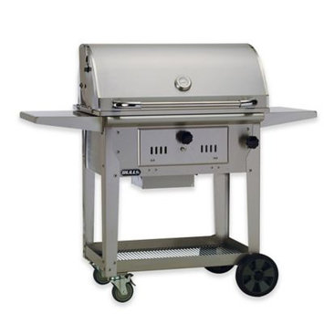 BULL® Bison 30-Inch Charcoal Grill Cart in Stainless Steel