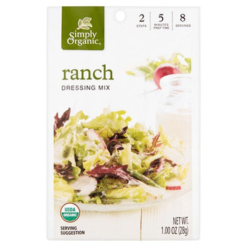 Simply Organic Ranch Dressing Mix, 1.00 oz, 12 pack