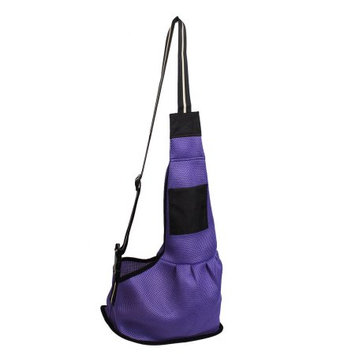 Purple Release Buckle Dog Pet Single Shoulder Messenger Bag Carrier Knapsack