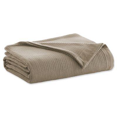 ED Ellen DeGeneres Yarn Dye Stripe Full/Queen Blanket in Camel/Ivory