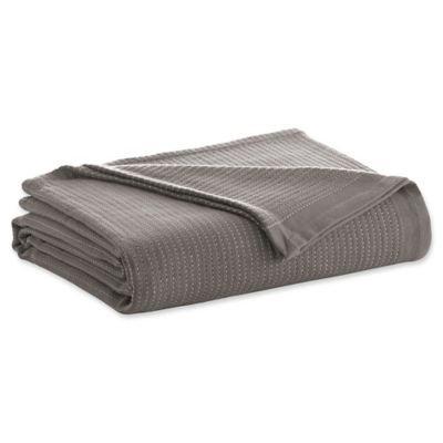 ED Ellen DeGeneres Yarn Dye Stripe Full/Queen Blanket in Grey/Ivory