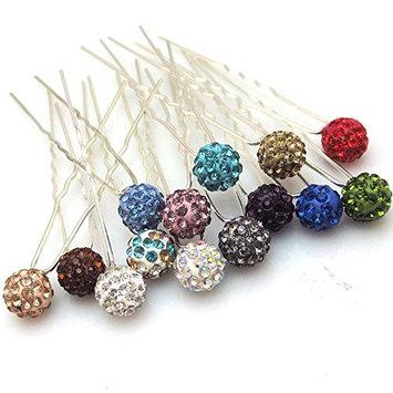 Shop Ginger Wedding Ship USA (Pack Of 6) Disco Ball Crystal Rhinestones Hair Pins