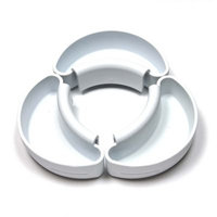 Saddle Saucer Bowl Accessories in White (Set of 3)