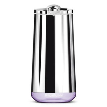 simplehuman® Rechargeable Foaming Sensor Pump with Lavender Soap in Polished Stainless Steel