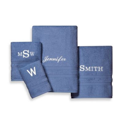Wamsutta® UltraSoft MICRO COTTON Washcloth in Denim Blue