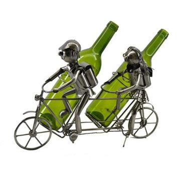 Wine Bodies® Tandem Bicycle 2-Bottle Holder in Nickel