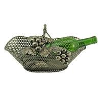Wine Bodies® Basket Bottle Holder in Nickel