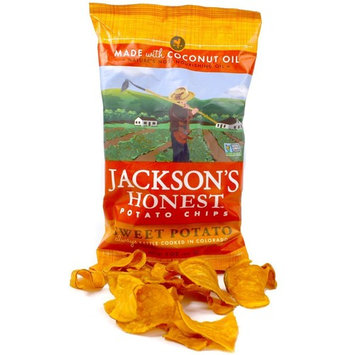 Jackson's Honest Potato Chips - Sweet Potato - Made with Organic Coconut Oil, Non GMO, 5 oz. (6 Pack)