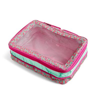 Vera Bradley Large Expandable Packing Cube in Ditsy Dot