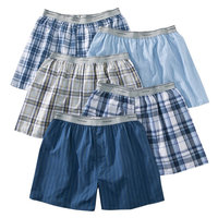 Fruit of the Loom Men's Elastic Waistband Boxers 5-Pack - Assorted