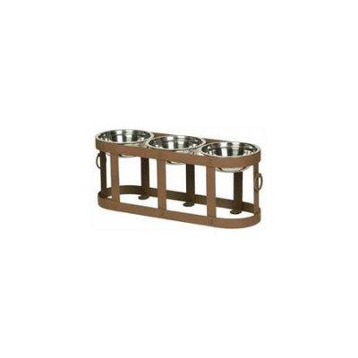 Unleashed Life Tripoli Tripple Table Stainless Steel Dog Bowls Medium