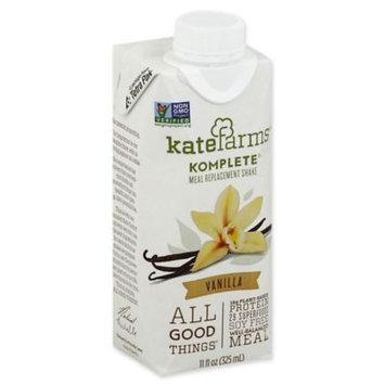 Kate Farms Komplete Meal Replacement Shake Vanilla 11oz