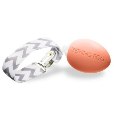 The Teething Egg™ Teether in Coral