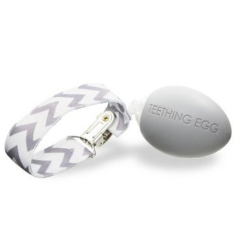The Teething Egg™ Teether in Soft Grey