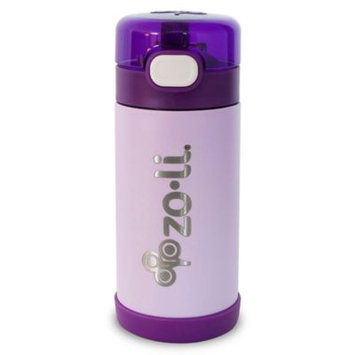 Infant Zoli Pow Squeak 10-Ounce Insulated Stainless Steel Water Bottle, Size One Size - Purple