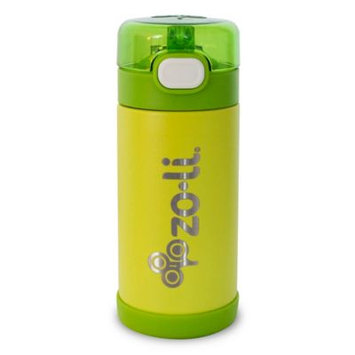 Infant Zoli Pow Squeak 10-Ounce Insulated Stainless Steel Water Bottle, Size One Size - Green