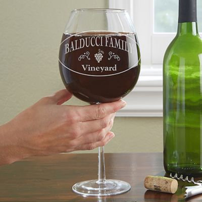 Family Winery Whole Bottle Oversized Wine Glass