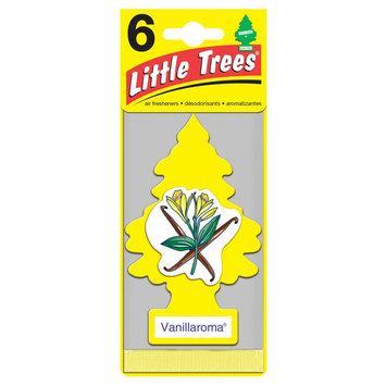 Car-freshner Corporation Vanillaroma 6 Pk Lil Tree, Yellow