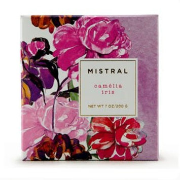 Mistral French Square 7 oz Bar Soap Camelia Iris