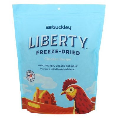 Buckley Liberty Freeze Dried Dog Food - Natural, Grain Free size: 20 Oz