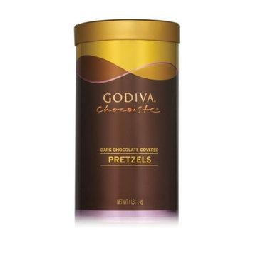 Godiva Chocolate Covered Pretzels in Tin - Dark Chocolate