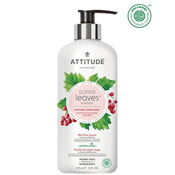 ATTITUDE Super Leaves, Hypoallergenic Natural Hand Soap, Red Vine Leaves, 16 Fluid Ounce