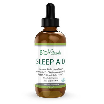 Melatonin Liquid Sleep Aid Drops – 100% Natural Sleeping Supplement with Inositol, B6 & L-Theanine Reduces Stress & Anxiety – Potent Sublingual Formula Faster Than Pills, Non-Habit Forming – 2 fl oz