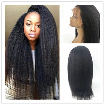 Pre plucked 360 Lace Frontal Wigs Italian Yaki Extra Heavy Density 180% Human Hair Wigs for Black Women Brazilian Remy Hair Wigs With Baby Hair (20