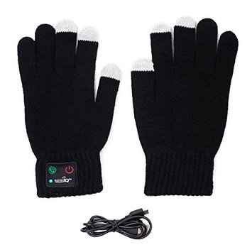 Ideas In Life Wireless Winter Bluetooth Gloves for Smarthphone Built in Bluetooth Speaker