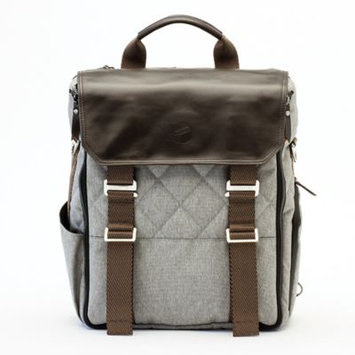 Paperclip Willow Diaper Bag in Heather Grey