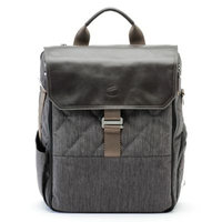 Paperclip Bear Diaper Bag in Charcoal Black