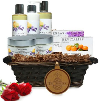 Pure Energy Apothecary Ultimate Body Pure Aromatherapy Split Letter Pineapple Gift Basket