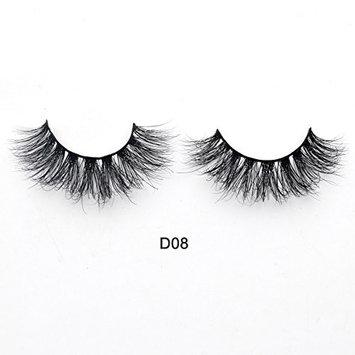 Visofree 3D Mink Lashes High Volume Mink Eyelashes Reusable Dramatic Eyelashes/False Eyelashes (D08)