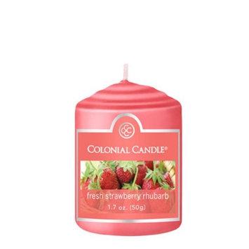 Classic Wax CC015.1234 Votive Fresh Strawberry Rhubarb Candles Pack of 18