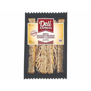 Deli Express Mega Deli Smoked Turkey and Cheese Sandwich, 5.8 Ounce -- 8 per case.