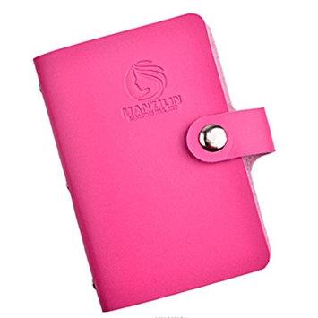 Bestpriceam 20 Slots Nail Art Stamp Plate Stamping Plates Holder Storage Bag Cases Stamp Bag Organizer (Hot Pink)