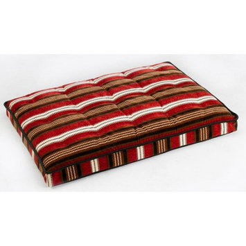 Bowsers Luxury Pet Crate Mattress Bowser Stripe Microvelvet, Size: Medium