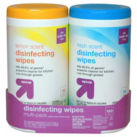up & up Disinfecting Wipes -Lemon and Fresh Scent - 75 Count, 2 pack