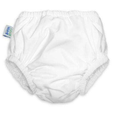 My Swim Baby® Extra Large Reusable Swim Diaper in White