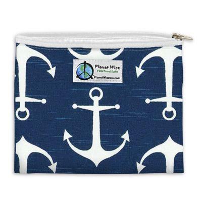Planet Wise™ Overboard Zipper Sandwich Bag in Dark Blue