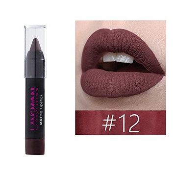 Jinjin Matte Lipstick Pen-Waterproof Sexy Lip Gloss Pen 12-color Optional Lip Beauty Makeup, Long Lasting,Soft and Hydrating