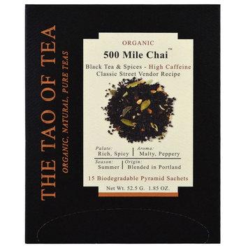 The Tao of Tea, Organic 500 Mile Chai, 15 Pyramid Sachets, 1.85 oz (52.5 g) [Flavor : 500 Mile Chai]