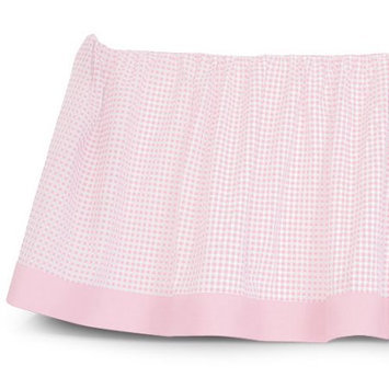 Sleeping Partners Tadpoles Classic Gingham Crib Skirt Color: Pink