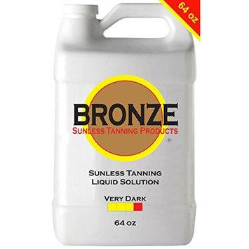 BRONZE - VERY DARK - 64 oz - Best Sunless Self Tanning Liquid Spray Tan Solution for Airbrush Spray Tanning Machine - Best Sunless Self Tanning Liquid Spray Tan Solution, Foam Mousse, Lotion, Tanner
