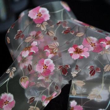 Pink Flower Pattern Nail Art Foil Vine Flowers Nail Decals Decoration Roll in Manicure Jar 1 meter
