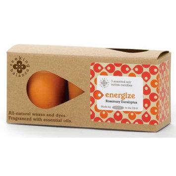 Root Scented Seeking Balance Energize Votive Candles, Rosemary Eucalyptus, Box of 3 [Energize]