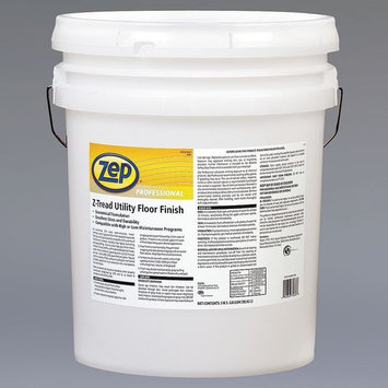Zep Professional R04335 Z-Tread Utility Floor Finish, Mild Fragrance, Translucent/Milky-White (Pail of 5 Gallons)