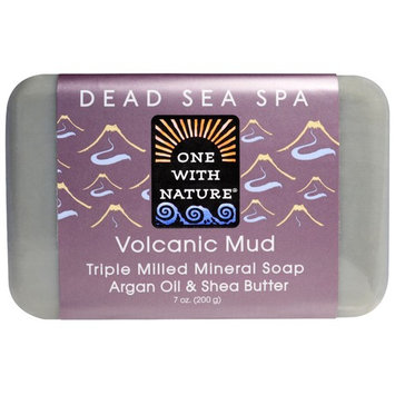 One with Nature, Triple Milled Mineral Soap, Volcanic Mud, 7 oz (200 g) [Scent : Volcanic Mud]